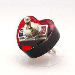 画像1: ハート形ヤル気スイッチリング(mini) 電子部品アクセサリー