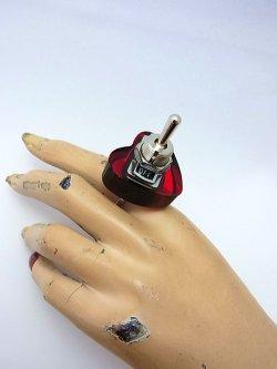 画像4: ハート形ヤル気スイッチリング(mini) ピンク 電子部品アクセサリー