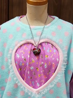 画像3: ハート形ヤル気スイッチネックレス(mini) ピンク 電子部品アクセサリー