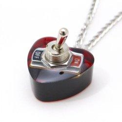 画像2: ハート形ヤル気スイッチネックレス(mini) 電子部品アクセサリー