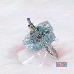 画像4: ハートやる気スイッチリング スモールサイズ (キラキラ クリアー)