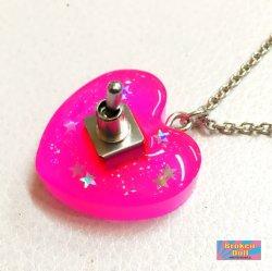 画像2: ハートやる気スイッチネックレス スモールサイズ (ピンク)