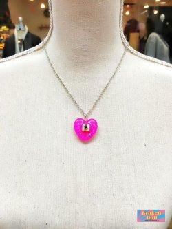 画像3: ハートやる気スイッチネックレス スモールサイズ (ピンク)