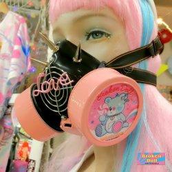 画像4: ガスマスク(Yue Kihara ver.1) パステルピンク&ブルーフィルター