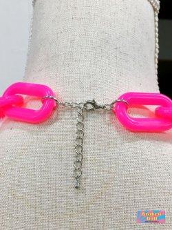 画像2: New Wave Punk チェーン ネックレス (Pink)