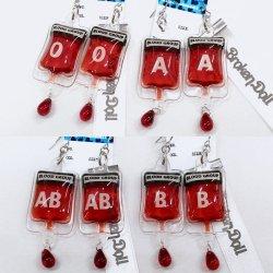 画像1: 輸血バッグピアス(イヤリング) ナースコスプレ、病みかわいい、コスプレ