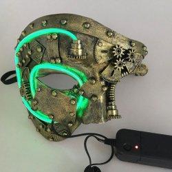 画像1: スチームパンク マスク (LEDモデル)
