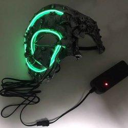 画像2: スチームパンク マスク (LEDモデル)