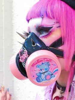 画像1: ガスマスク(Yue Kihara ver.1) パステルピンク&ブルーフィルター