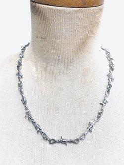 画像2: 有刺鉄線ネックレス  ユニセックス ストリートファッション