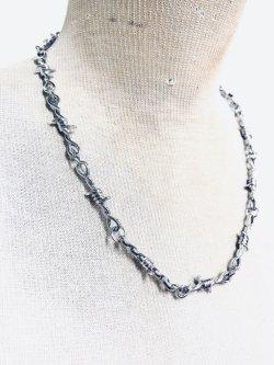 画像1: 有刺鉄線ネックレス  ユニセックス ストリートファッション